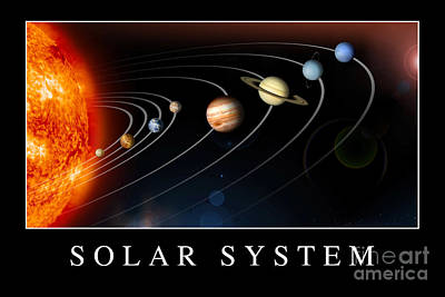 Solar System Poster Poster by Stocktrek Images