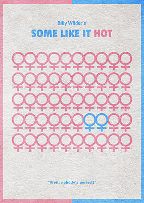 Some Like It Hot Poster by Ayse Deniz