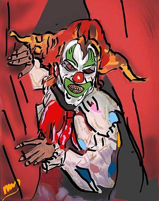 Something About A Clown Poster by Michael Bartlett