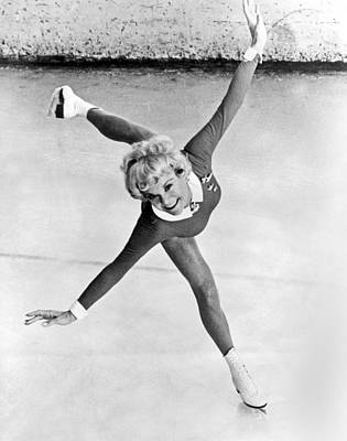 Sonia Henie Glides On Ice Poster by Underwood Archives