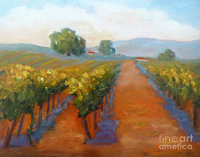 Sonoma Vineyard Poster by Carolyn Jarvis