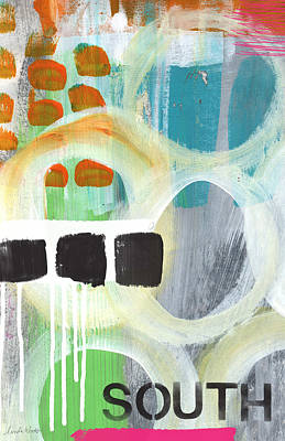 South- Abstract Expressionist Art Poster by Linda Woods