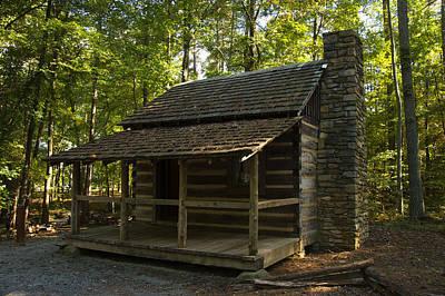 South Carolina Log Cabin Poster by Chris Flees