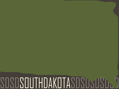 South Dakota State Modern Poster by Flo Karp