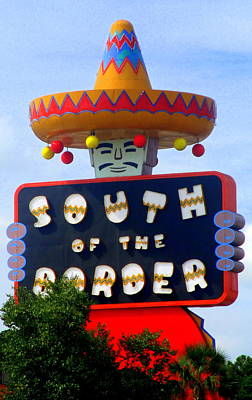 South Of The Border Motel Poster by Randall Weidner