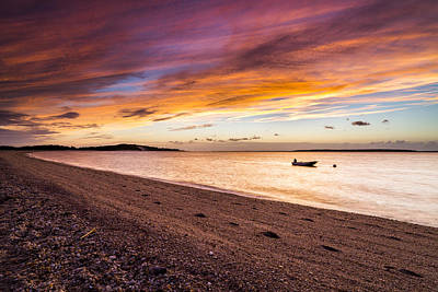 Southampton Shores Sunset Poster by Ryan Moore
