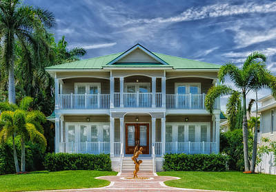 Southern Beach Home - Florida Poster by Frank J Benz