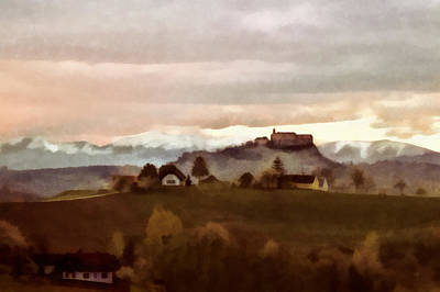 Southern Styria With Castle Riegersburg Poster by Menega Sabidussi