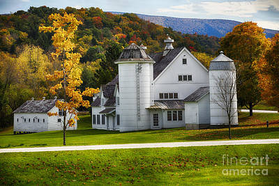 Vermont Fall Scenic II Poster by George Oze