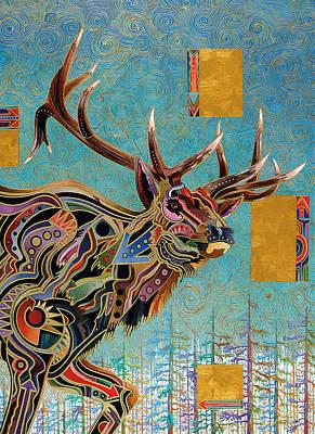 Southwestern Elk Poster by Bob Coonts