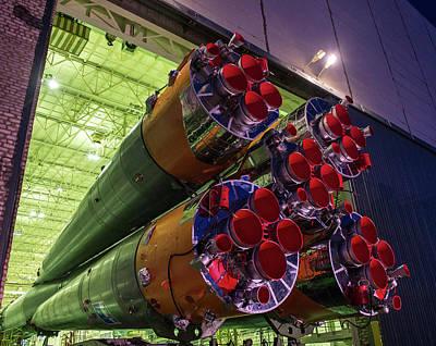 Soyuz Tma-16m Launch Preparation Poster by Nasa/bill Ingalls