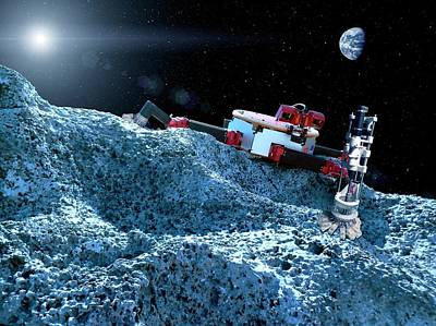 Space Rover With Microspine Grippers Poster by Nasa/jpl-caltech