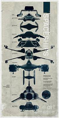 Space Ships Poster by Baltzgar