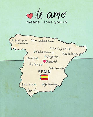 Spain Poster by Lisa Barbero