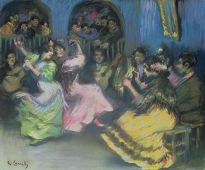 Spanish Gypsy Dancers, 1898 Poster by Ricardo Canals y Llambi