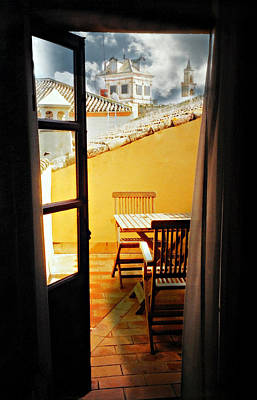 Spanish Veranda  Poster by Diana Angstadt