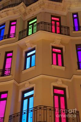 Spanish Windows Poster by Cindy Lee Longhini