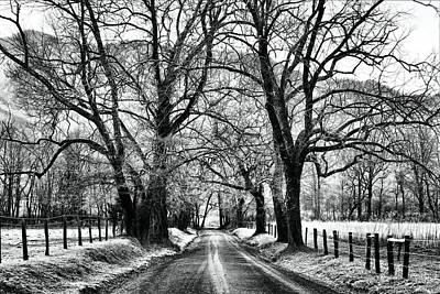 Sparks Lane During Winter Poster by Carol R Montoya