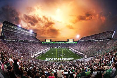Spartan Stadium Poster by Rey Del Rio