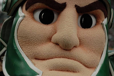 Sparty Face  Poster by John McGraw
