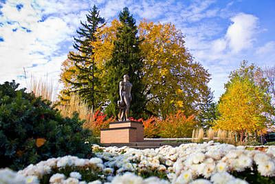 Sparty In Autumn  Poster by John McGraw