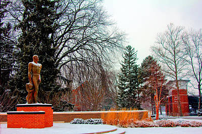 Sparty In Winter  Poster by John McGraw