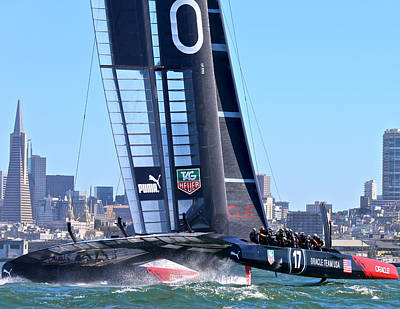 Oracle America's Cup Winner Poster by Steven Lapkin