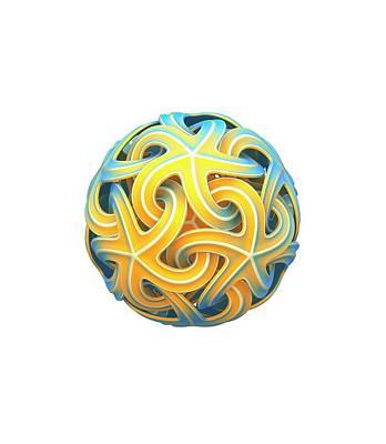 Sphere Of Interlocking Geometries Poster by David Parker