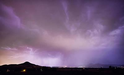 Spider Lightning Above Haystack Boulder Colorado Poster by James BO  Insogna