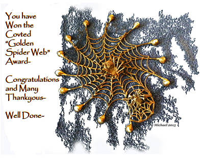 Spider Web Congratulation Thank You Well Done Poster by Michael Shone SR