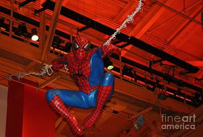 Spiderman Swinging Through The Air Poster by John Telfer