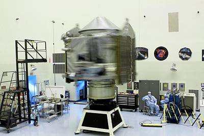 Spin Test Of The Maven Spacecraft Poster by Nasa