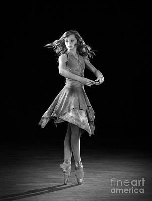 Spinning Ballerina Poster by Cindy Singleton