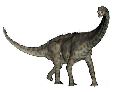 Spinophorosaurus Dinosaur Poster by Elena Duvernay