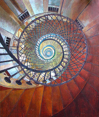 Spiral Staircase Poster by Elizabeth D'Angelo