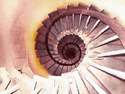Spiral Stairway Poster by Lanjee Chee