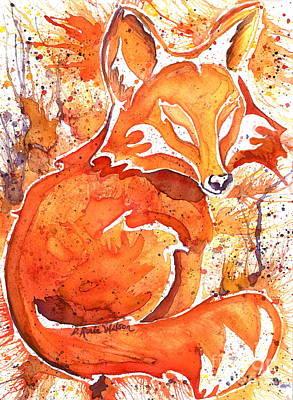 Spirit Of The Fox Poster by D Renee Wilson