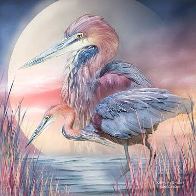 Spirit Of The Heron Poster by Carol Cavalaris