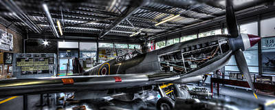 Spitfire Hanger Panorama Poster by Ian Hufton