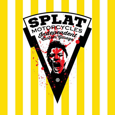 Splat Motorcycles Poster by Gary Grayson