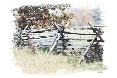 Split-rail Fence Gettysburg Poster by Gary Gunderson