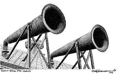 Split Rock Fog Horns Poster by Rob Christensen