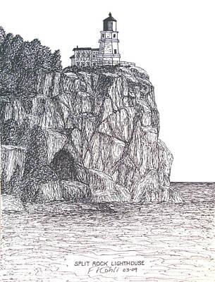 Split Rock Light Poster by Frederic Kohli