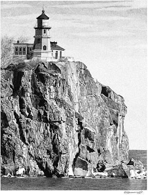 Split Rock Lighthouse Poster by Rob Christensen