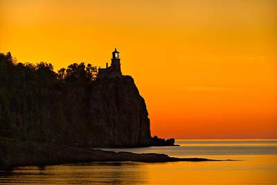 Split Rock Lighthouse Poster by Steve Gadomski