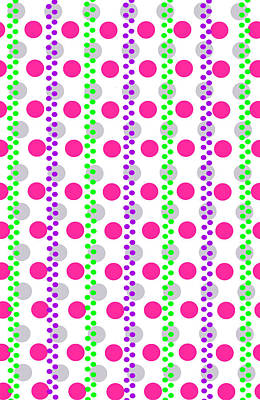 Spotty Stripe Poster by Louisa Hereford