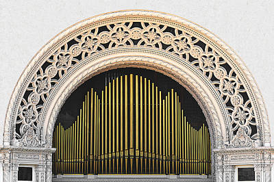 Spreckels Organ Balboa Park San Diego Poster by Christine Till
