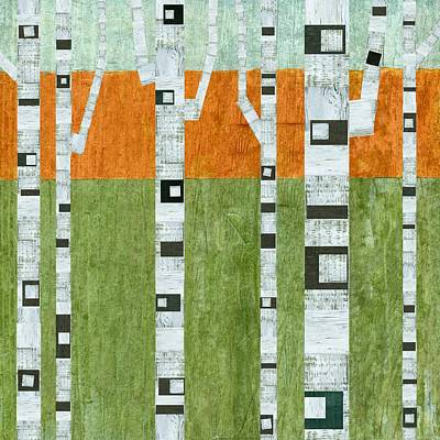 Spring Birches Poster by Michelle Calkins