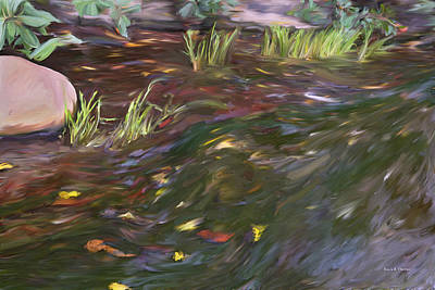 Spring Creek In Oak Canyon Park Poster by Angela A Stanton