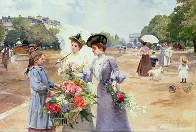 Spring Morning Poster by Louis de Schryver